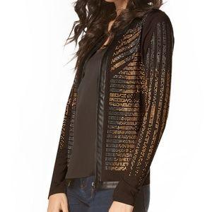 Gold and  Black  Rhine Stoned  Ladies Jacket
